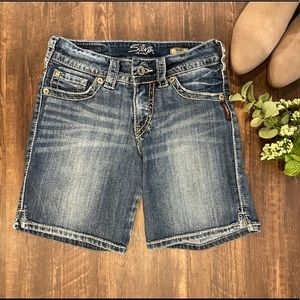 Silver Jeans | Shorts | Long Length | Size 25